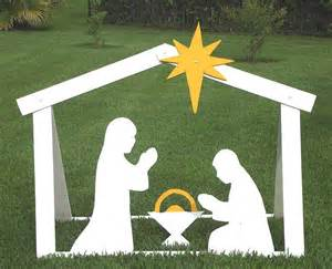 manger template diy outdoor nativity building steps with templates