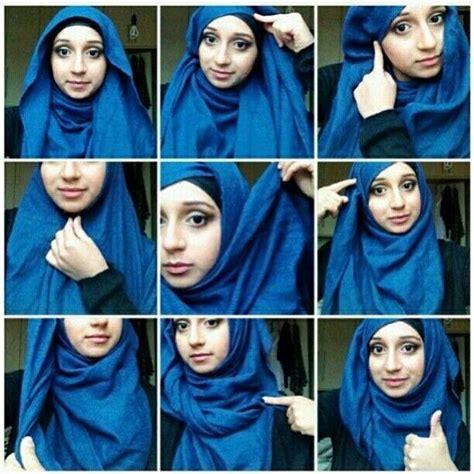 memakai hijab selendang  baik  benar