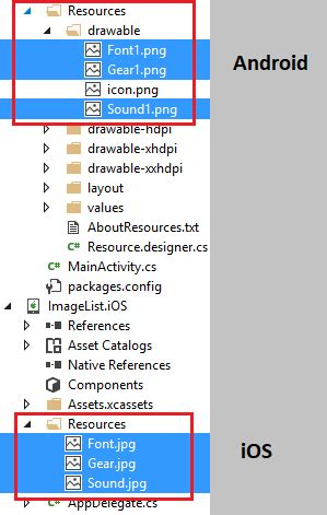 xamarin android project properties stackoverflowxchanger how can i add an icon to a textcell in xamarin forms