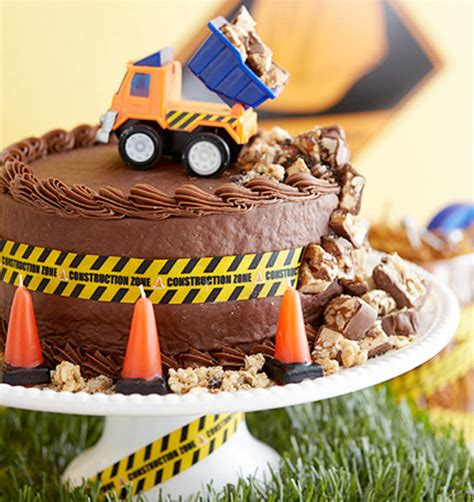 cakespiration  construction cakes theyll  dig mums grapevine
