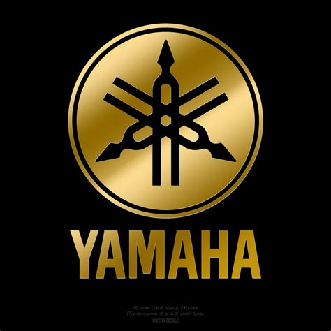 Yamaha Sticker Logo by Yamaha Drums Vertical Logo 5 Quot X 6 5 Quot Mirror Gold Logo