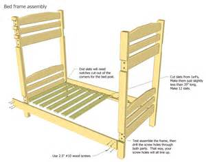 Bed Frame Assemble Wood Bunk Bed Plans