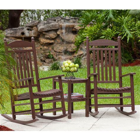 Polywood 174 Jefferson Rocking Chair Set Pw Rocker Set3 Outdoor Furniture Usa