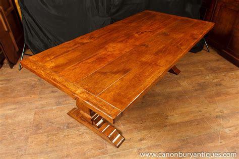 oak dining table kitchen farmhouse refectory tables ebay