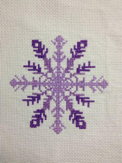 snowflake pattern cross stitch snowflake from stitching the night away cross stitch