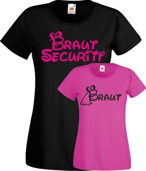 braut junggesellinnenabschied braut security frauen t shirt jga junggesellinnenabschied