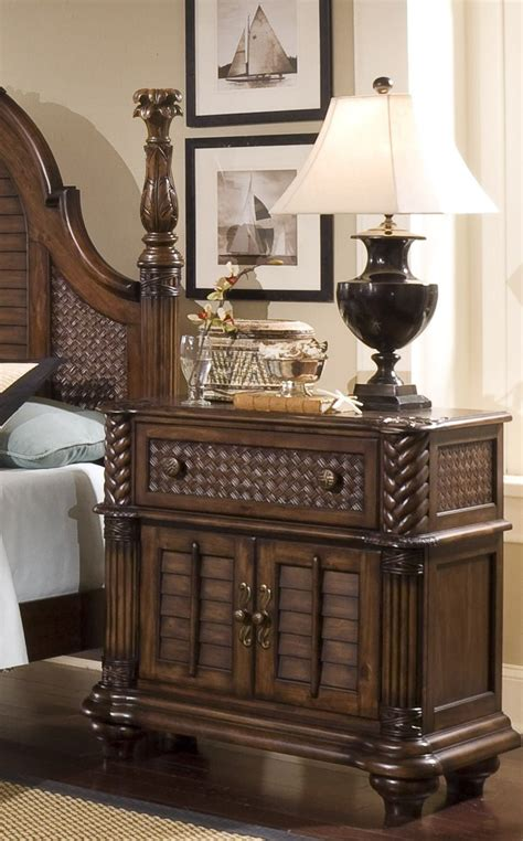 palm court ii coco brown poster bedroom set from