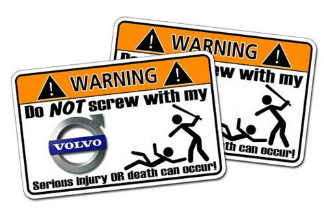 volvo warning sticker semi tractor trailer big truck ebay