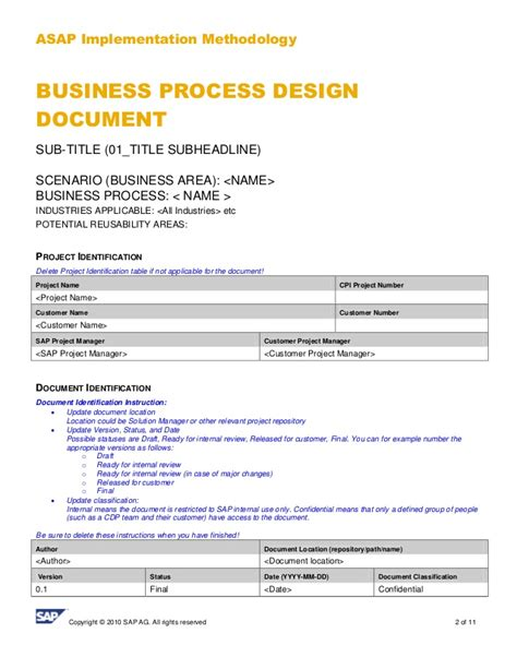 business process design document template images
