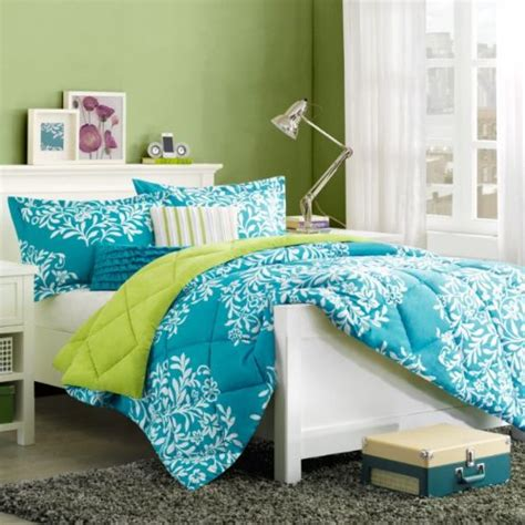 turquoise blue green girls queen comforter set bonus