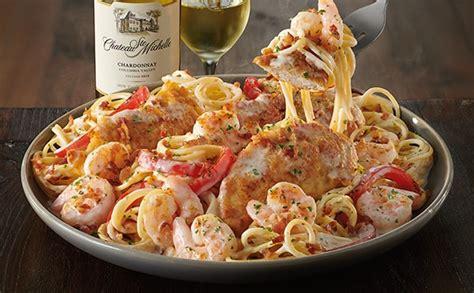 Olive Garden Adds Lower Calorie Mediterranean Dishes To Their Menus Chicken Shrimp Carbonara Lunch Dinner Menu Olive Garden Italian Restaurant