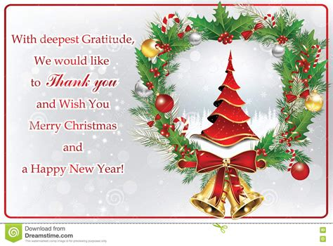 merry thank you card template company message merry happy new