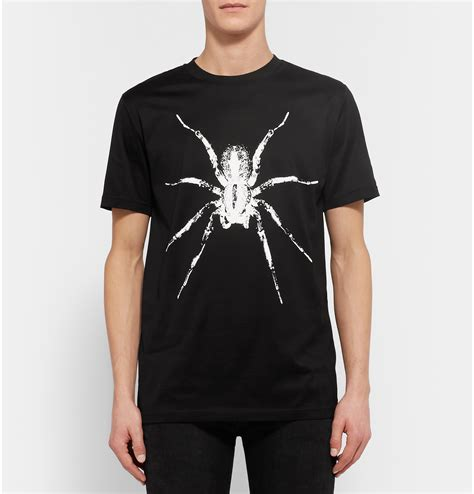 Printed Spider Cotton T Shirt By Lanvin T Shirts Ikrix by Lanvin Spider Print Cotton Jersey T Shirt In Black For Lyst