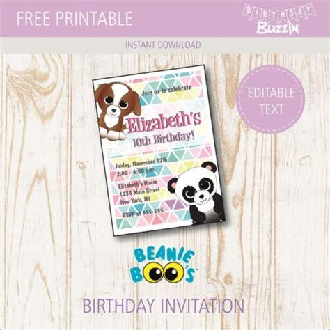 free printable birthday invitations upload photo free printable beanie boo birthday party invitations