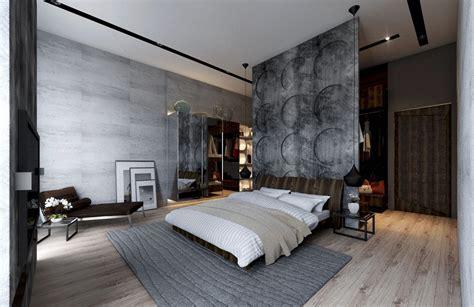 Exposed Concrete Wall Bedroom Ipc249   Newest Bedroom