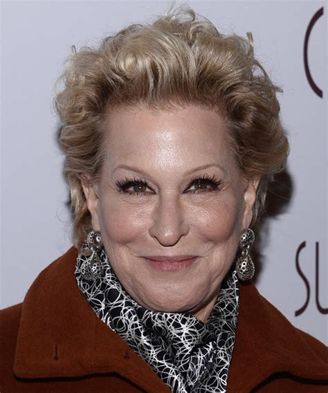 bette midler hairstyles bette midler wavy formal hairstyle light