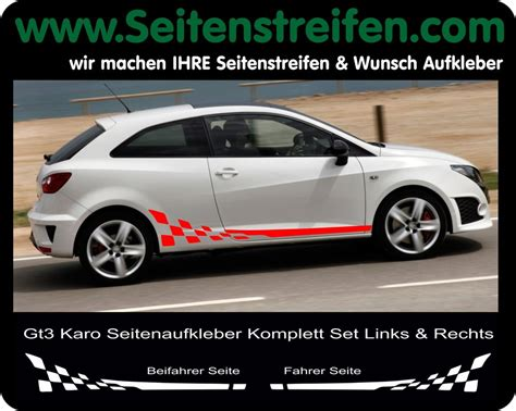 Decal Striping Sticker Klx 041 Glossy seat ibiza side stripe sticker decal complete set n 176 6283