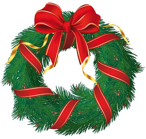 free christmas clip art wreaths holliday