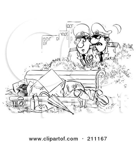 bench outline royalty free rf clipart illustration of a black and