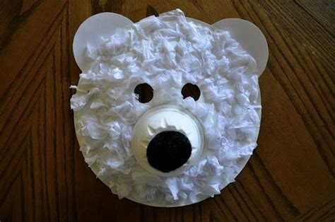 Paper Plate Polar Craft - cool polar crafts for winter and season