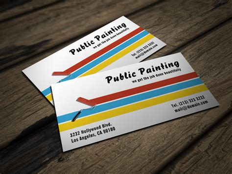 business card template for portfoli painter business card j32 design