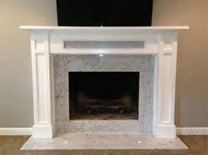 mantels craftsman style mantel with speaker storage