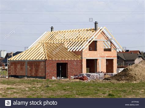 building new house house in construction new home wood brick architecture