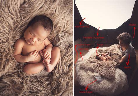 newborn photography lighting setup on location service maternity baby and newborn