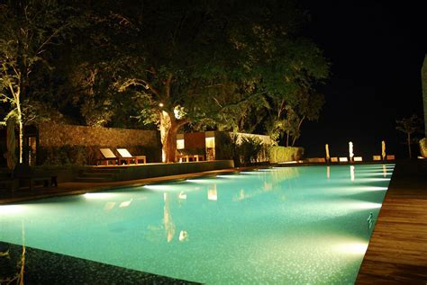 Backyard Pool Lighting Impressive Swimming Pool Lights Pool Lighting Ideas And