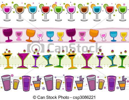 margarita clipart border clipart of cocktails borders cocktails border set