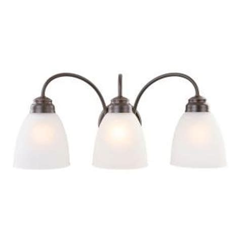 commercial electric rubbed bronze 3 light vanity