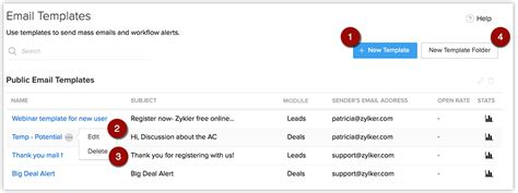 email templates for zoho email template transition guide online help zoho crm