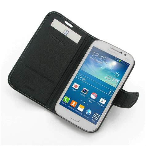 Samsung Grand Neo Leather Flip Wallet Casing Cover Dompet Kulit samsung galaxy grand neo leather flip carry cover pdair