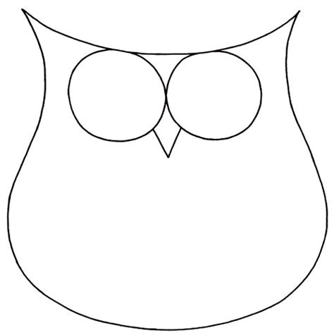 template of owl owl outline drawing clipart best