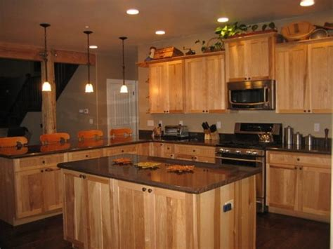 hickory cabinets with granite countertops hickory hickory natural cabinets granite countertop yelp