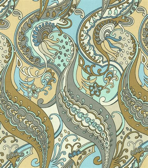 paisley home decor waverly home decor print fabric paisley puzzle etherea at
