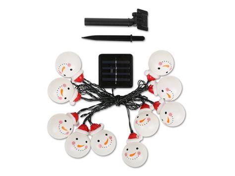 Snowman Solar Outdoor String Light Solar Snowman Lights
