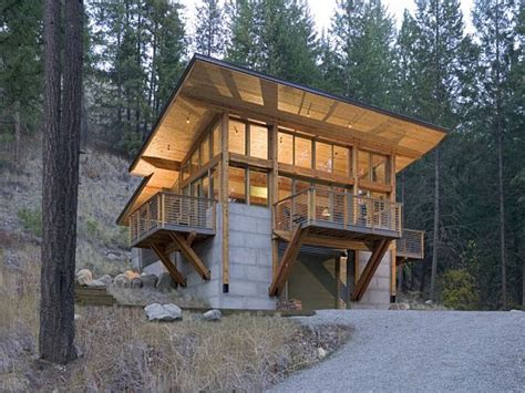 build a cottage cabin built into hillside plans homes built into hillsides
