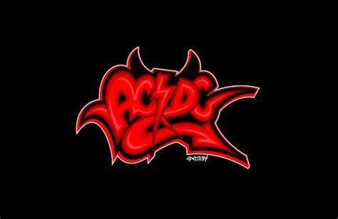 graffiti logo wallpaper ac dc graffiti logo vector by elclon on deviantart