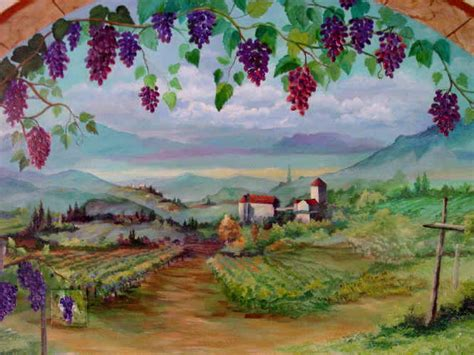 tuscany wall murals tuscany mural for kitchen