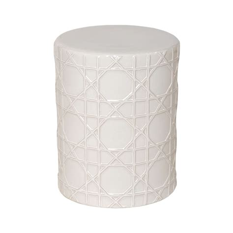 Ceramic Stool White by White Ceramic Stool