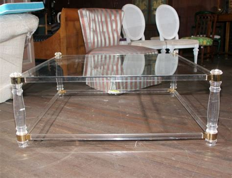 square lucite coffee table 17 chic square lucite coffee tables