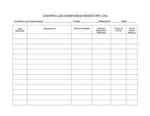 27 images of narcotic inventory sheet template infovia net