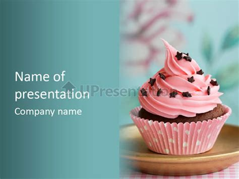 Cup Cake Powerpoint Template Id 0000008399 Upresentation Com Cupcake Powerpoint Template