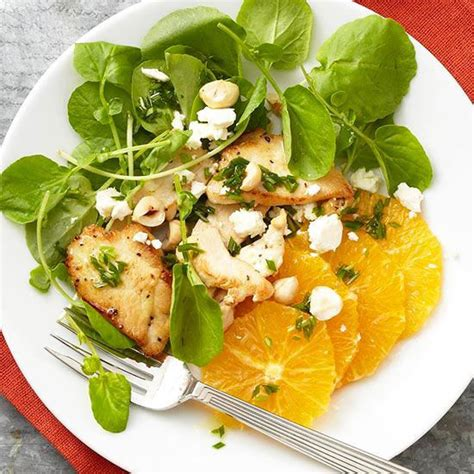 Fast Easy Dinner Salad With Saganaki by Orange And Watercress Salad With Chicken Recipe Orange