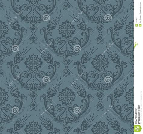 grey expensive wallpaper luxury seamless grey floral wallpaper stock vector