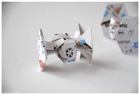 Origami Wars Tie Fighter - wars recreated in origami recyclenation