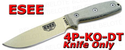 Swiss Army Hardmika Dt esee model 4 plain edge blade knife only 4p ko dt ebay