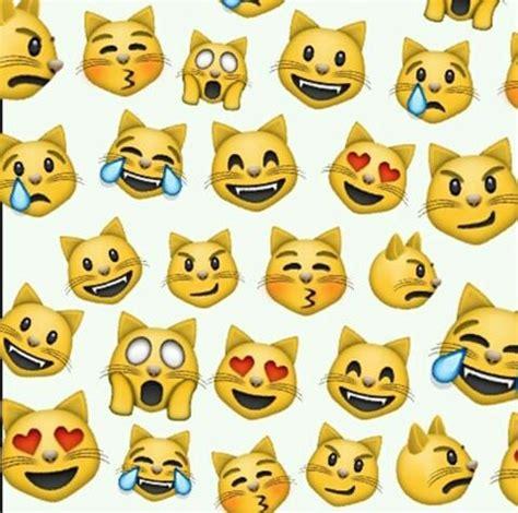 cat emoji wallpaper lockscreen emoji cat we heart it background and wallpaper