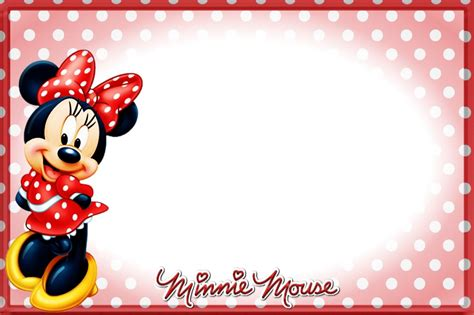 printable minnie mouse birthday invitations bagvania